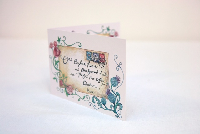 The Story House Wedding Invitation bespoke