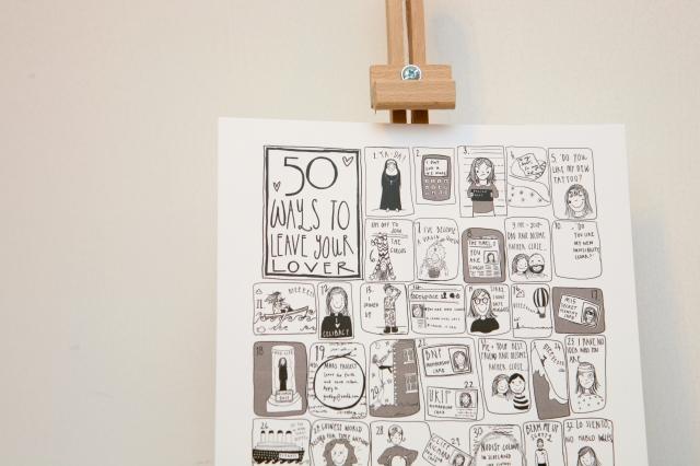 50 Ways Unframed Close Up