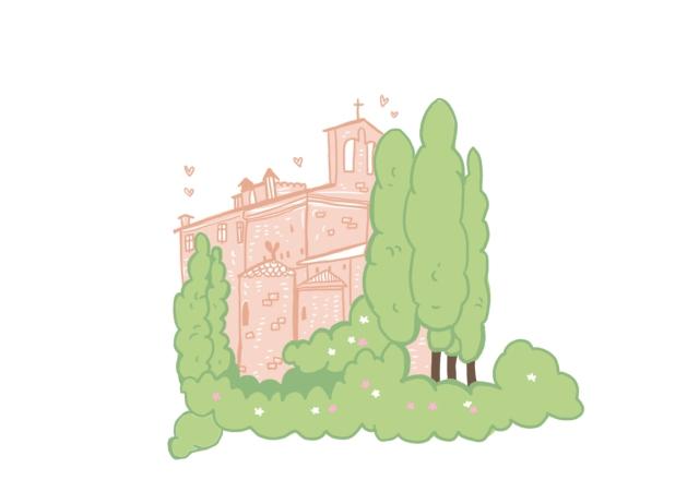 The Story House Tuscany Illustration
