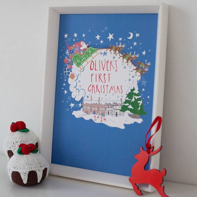 original_personalised-father-christmas-sleigh-print