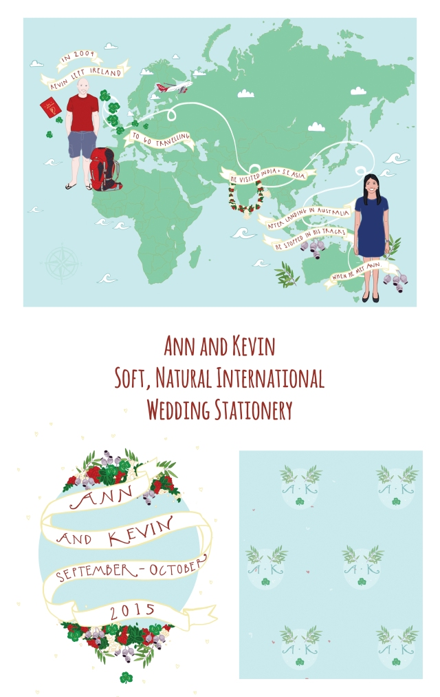 Ann and Kevin International Wedding Stationery
