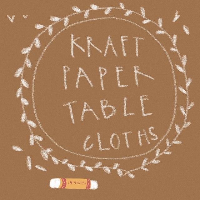 Kraft Paper Table Cloths Wedding