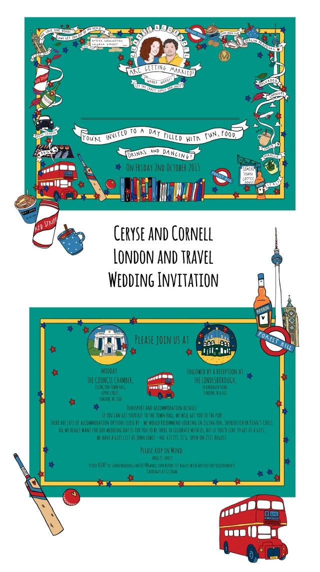 The Story House London and travel Wedding Stationery
