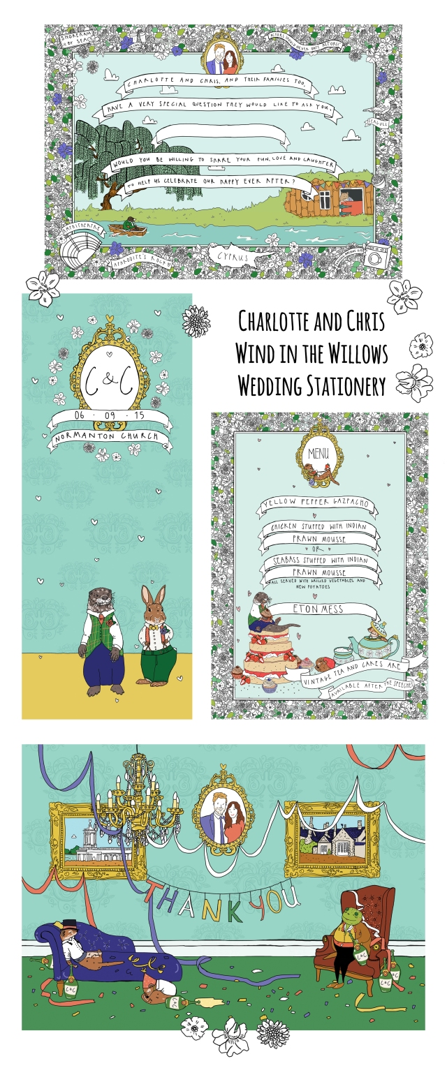 The Story House Wind in the Willows Wedding Stationery