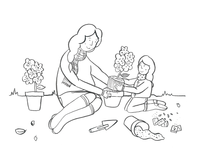 Illustrated Mother's Day Gardening Print